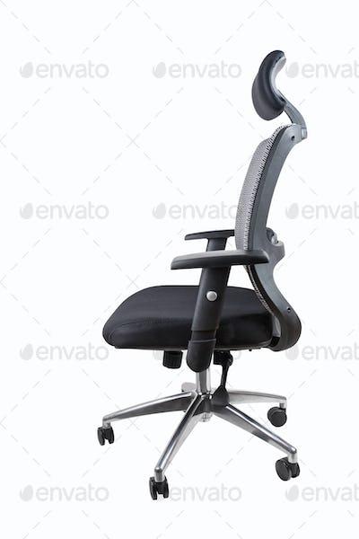 ergonomic office swivel chair isolated