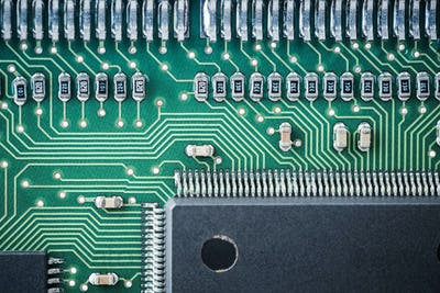processor and circuit board closeup