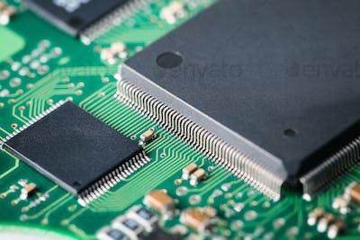 processor with electronic circuit board closeup