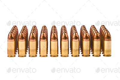 Rows of bullets
