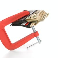 Wallet clamped shut