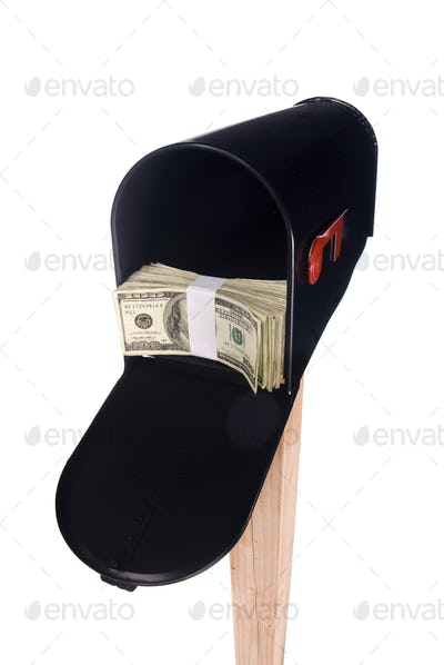 Isolated mailbox with money