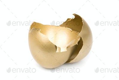 Broken golden egg