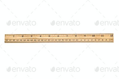 New wooden ruler