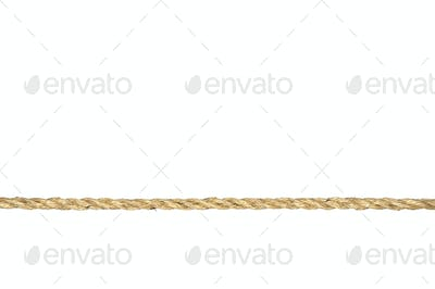 Twisted manila rope isolated on white