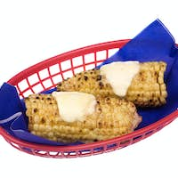 Corn on the cob with melted butter