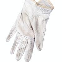 Golf glove on white background