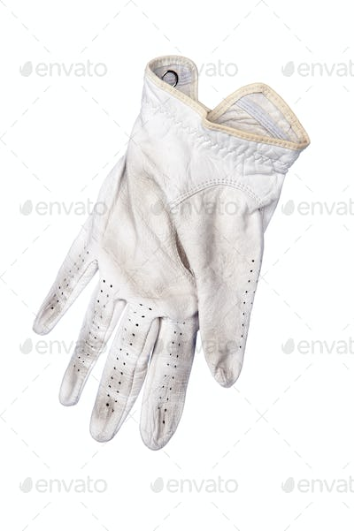 Golf glove on white background