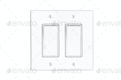 Dual light switch on white