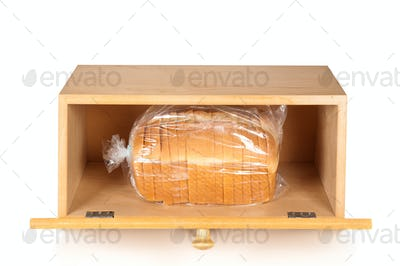 Bread box on white