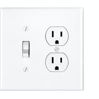Light switch on white