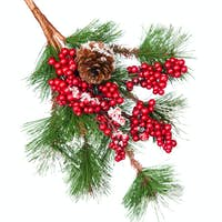 Decorated Christmas tree branch