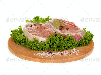 steak meat isolated on white background