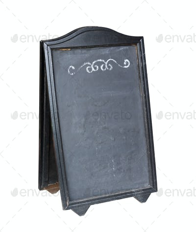 Empty menu board stand