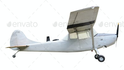 Old plane on white background