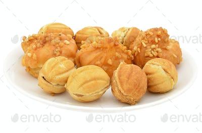Round ruddy cookie