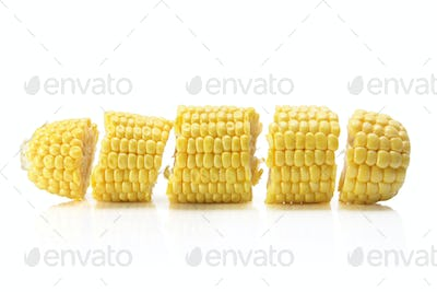 Slices of Corn Cob