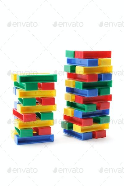 Stacks of Building Blocks