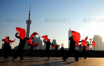 Traditional Chinese Dance with Fans