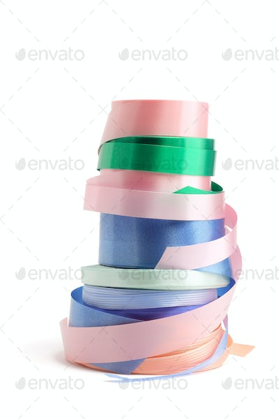 Rolls of Gift Ribbons