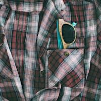 wooden glasses in pocket