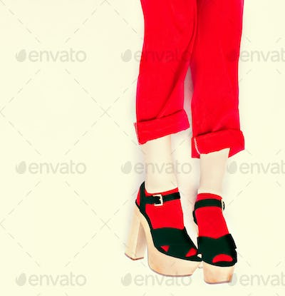black and red style fashion girl