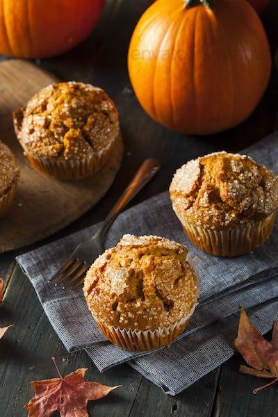 Homemade Autumn Pumpkin Muffin
