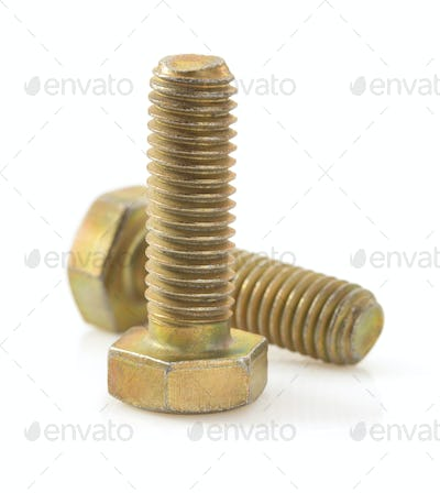 metal bolts tool  on white