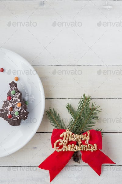 Christmas Dessert. Christmas Background