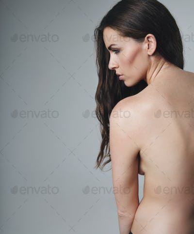 Nude female model