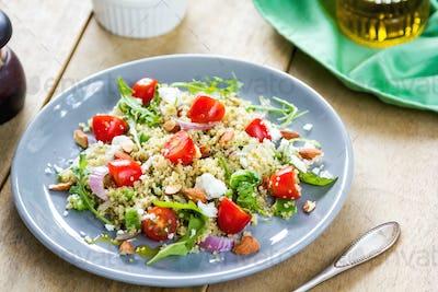 Quinoa with Feta and Rocket salad