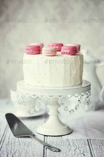 Macaron layer cake