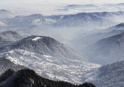 Top view from Ceahlau mountains