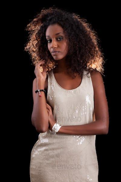 Young beautiful African woman
