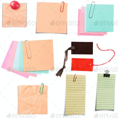 Various note paper
