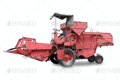 Red old combine