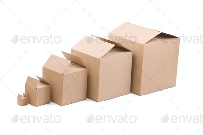 ardboard boxes