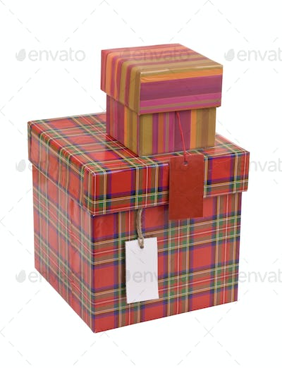 Gift boxes with blank tag