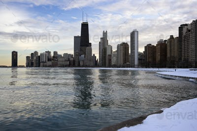 Winter in Downtown Chicago