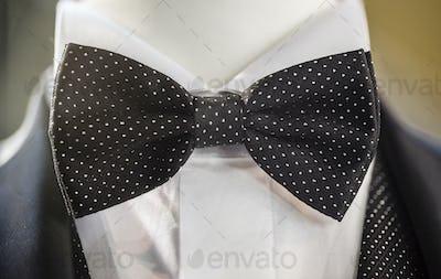 Black papillon tie