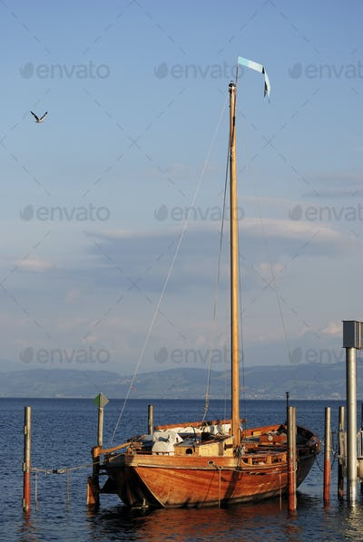 Historic sailing boat