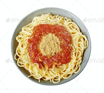 Italian spaghetti with Bolognese sauce