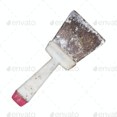 Old Dirty And Rusty Spatula Isolated