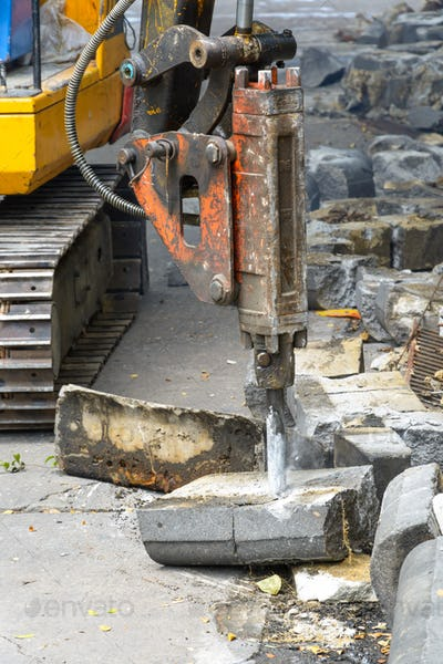 jackhammer on building site