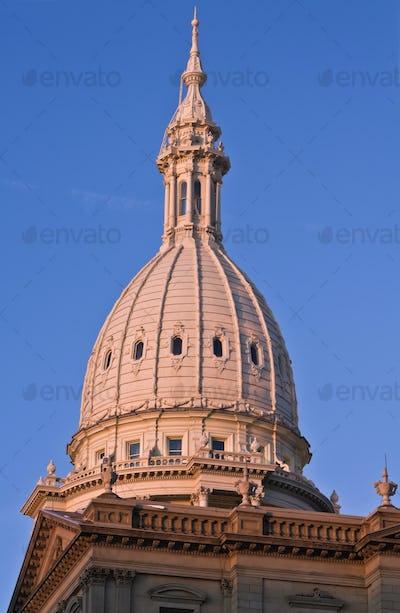 Lansing, Michigan - State Capitol at sunset