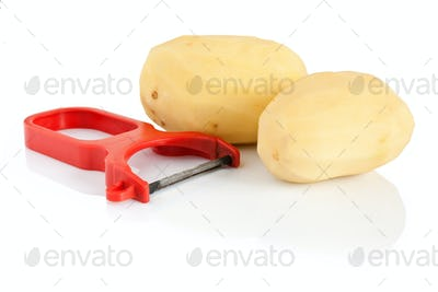 potato peeler with potatoes