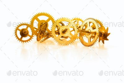 a collection of clock gear
