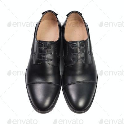 The black man's shoes