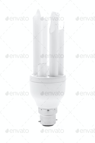 Broken Compact Fluorescent Lightbulb