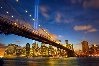 New York City Manhattan in memory of September 11